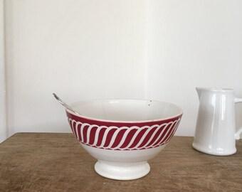 RESERVED- Vintage French cafe au lait bowl