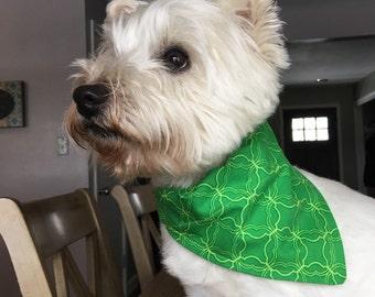 Small Green with Envy Dog Bandana