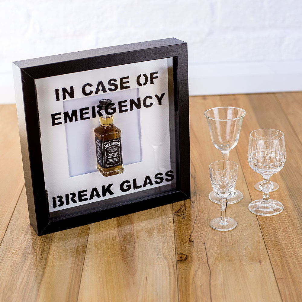in case of emergency break glass novelty jack daniel s zoom