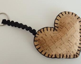 Keychain cork , cork gift, cork nature, portuguese gift, women keychais, valentines day, accessories