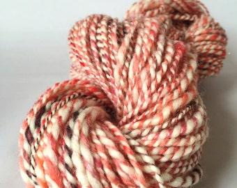 FLAMINGO TULIP worsted weight handspun art yarn