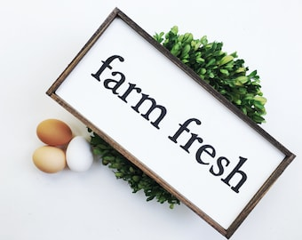 Farm Fresh Handcrafted Wooden Sign