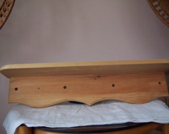 "Unfinished Wood Shelf - Pine - 26 3/4"" Long"