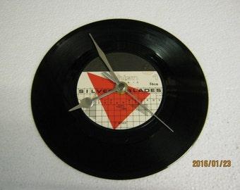 "Fashion - ""Silver Blades"" Vinyl Record Wall Clock"