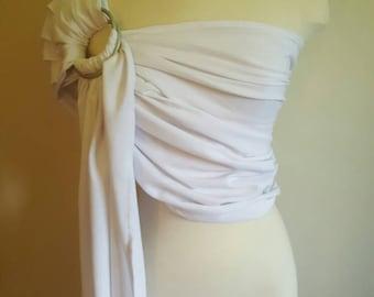 White ring sling, wrap carrier, baby wearing, baby carrier, 'maya' style sling, shower gift, boy girl, wedding