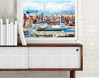 Beach Photography Print - Beach Life Italy - Photographic Art, Photo Print, Art Print, Wall Art, Photographic Print, blue art, Photo Prints