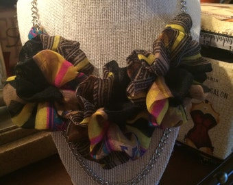 Hmong Scarf Flowered Necklace