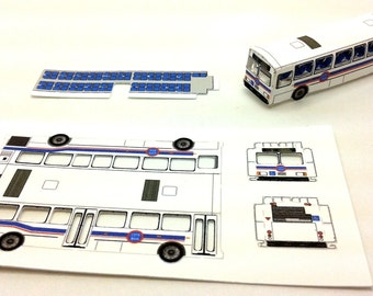 Z Scale Vehicle - City Bus Paper Craft Kit