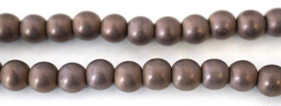 Hematite Matte Coffee Bronze Gemstone Round Stone Beads 4mm/6mm/8mm/10mm natural healing stone chakra stones for Jewelry Making# 0154 (B)*