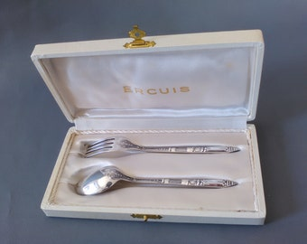 3 sets of silverware, new, 60s, French quality, never used 30euros one