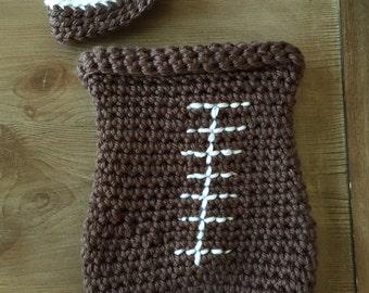 Baby Crochet Football Coccon / Newborn Photography