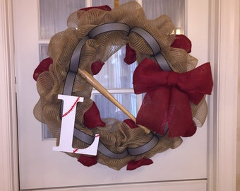 Sports themed wreaths