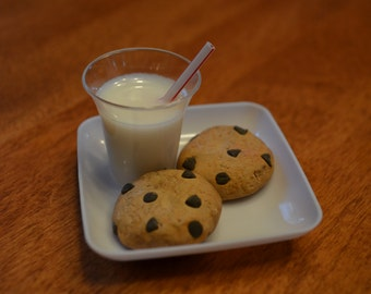 "Chocolate Chip Cookies and Milk Set for 18"" doll/Amercian Girl"