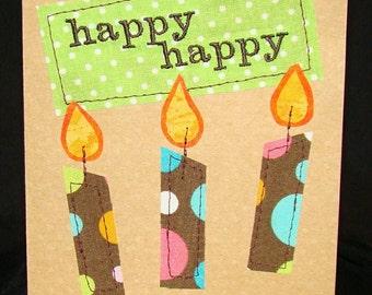 Happy, Happy Birthday Card - Set of 4