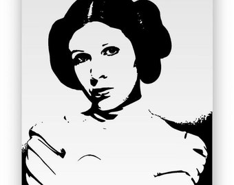 "Star Wars ""Princess Leia"". Mirror hand engraved, sandblasted and coloured spray."