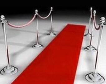 red carpet, red carpet runner, aisle runner, prom, Red velvet, non slip aisle runner, hollywood party, glam events, birthdays, velvet