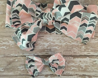 Chevron headwrap, one size fits all!