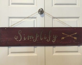 Simplify wall sign