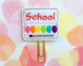 SALE CLEARANCE DESTASH, Planner Clips, School Paints, Art School Teacher Planner Clip, Stocking Stuffer