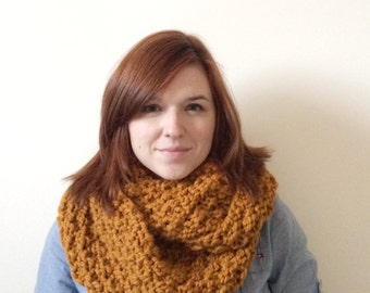 Chunky Knit Cowl | The Patch Infinity Scarf | Butterscotch