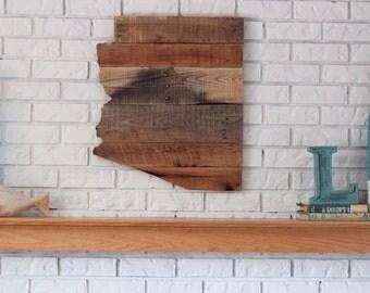 Arizona Wood Sign, Rustic Arizona State Sign, Arizona Home Decor, Arizona Wall Art, Wood Arizona Sign