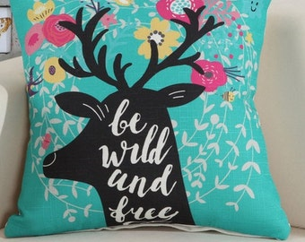 Be wild and free - Pillow Cover