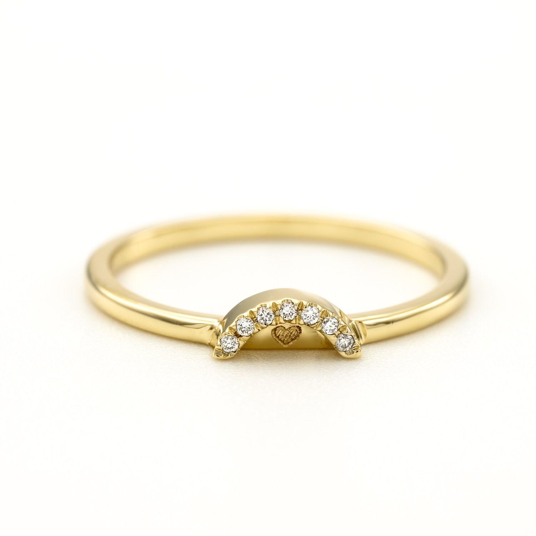 Diamond Wedding Ring Thin Diamond Wedding Band Halo Pave Ring