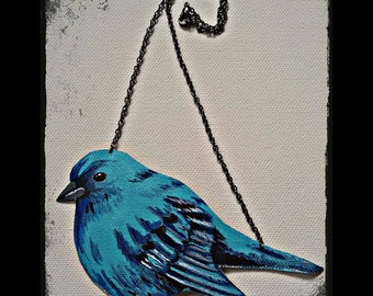 Turquoise Sparrow Necklace