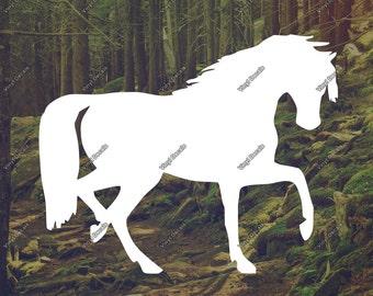 Horse Silhouette Sticker - Horse Vinyl Decal - Horse Decal - Laptop Decal - Car Decal - Wall Decal - Horse Wall Art - Vinyl Sticker