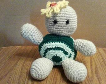 Crocheted Amigurumi Turtle