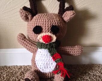 Hand Crochet Amigurumi Rudolph