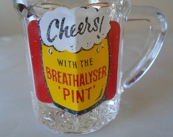 Tiny beer glass 'cheers with the breathalyser 'pint''