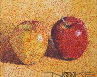Still Life Drawing, Colored Home Art, Unique Art, Still Life Art, Acrylic Painting On Canvas, Kitchen Painting, Fruit Still Life, Art Home