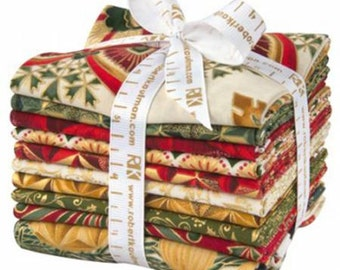 Winter's Grandeur Holiday Colorstory Fat Quarter Bundle, Robert Kaufman, Precut Fabric, Quilt Fabric, Cotton Fabric, Holiday Fabric