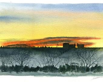 La Bellaria - Original watercolour paintings  by Andrea Rossi