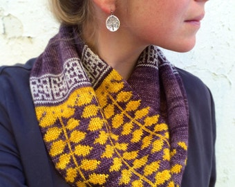 PDF Knitting Pattern - Honeylocust Loop Cowl
