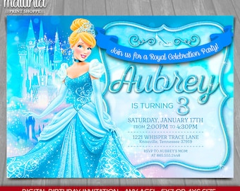 Cinderella Invitation - Disney Princess Cinderella Invite - Cinderella Birthday Invitation - Disney Cinderella Birthday Party