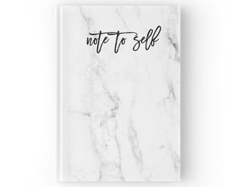 Marble Journal Notebook | Note to Self Quote Journal | Hard Cover Journal | Hard Back Notebook | Personalized Journal | Personalized Gift