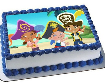 Jake and the Neverland Pirates Cake Topper, Disney Jake Pirate Party, Jake Pirates Edible Image, frosting sheet