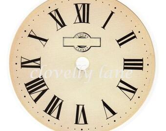 clock face antique vintage style featuring roman numerals