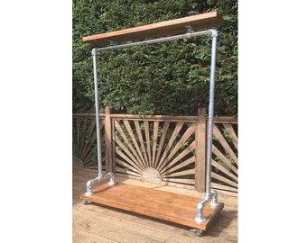 Custom Listing - Industrial Style Clothes Rail (Single Base)