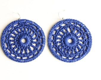 Sapphire Treasure hoop earrings