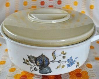 Egersund tureen  casserole serving dish Norwegian pottery 1960s FREE SHIPPING