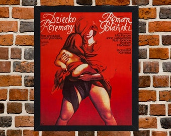 Framed Rosemary's Baby Polish Movie / Film Poster A3 Size Mounted In Black Or White Frame