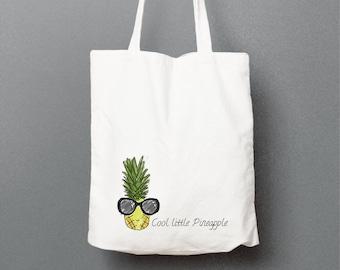 Pineapple tote bag, white