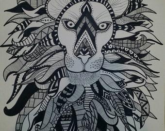 Lion - ink art