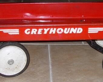 Child's Red Wagon Greyhound Red Wagon Vintage 1950's