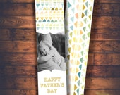 INSTANT DOWNLOAD -father's  day ,Bookmark photoshop template - father's day designs for photographers