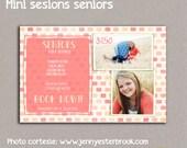 Template Senior Mini Session Flyer, Photographer Marketing Photoshop Template, Mini Session Flyer, Design
