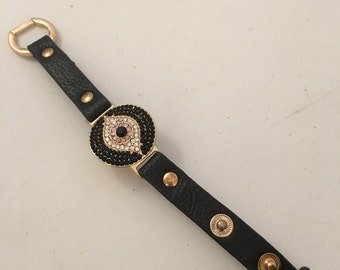 Lucky Eye Leather Bracelet